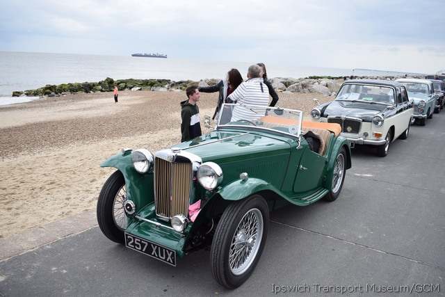 MG at the seaside